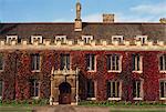 Courtyard, Trinity College, Cambridge, Cambridgeshire, England, United Kingdom, Europe