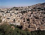 View of Albaicin, old Granada, from the Alhambra, Granada, Andalucia, Spain, Europe