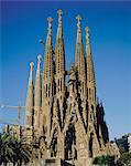 La Sagrada Familia, la cathédrale de Gaudi, Barcelone, Catalogne (Catalunya) (Catalunya), Espagne, Europe