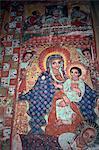 Church paintings, Narga Selassie, Dek, Lake Tana, Ethiopia, Africa