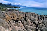 Pancake Rocks, Punakaiki, Parc National de Paparoa, Westland, île du Sud, Nouvelle-Zélande, Pacifique