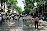 Touristes en promenade, Rambla de Canaletes, Barcelone, Catalogne, Espagne, Europe