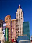 Skyline of the New York New York Hotel and Casino, in Las Vegas, Nevada, United States of America, North America
