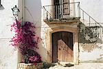 Picturesque doorway, Altafulla, Tarragona, Catalonia, Spain, Europe