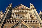 Façade de cathédrale, Orvieto, en Ombrie, Italie, Europe