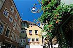 Coin de la vieille ville, Lindau, Bavière, Allemagne, Europe