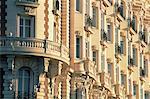 Ornement façade de l'hôtel Carlton, Cannes, Alpes-Maritimes, Côte d'Azur, Provence, France, Europe