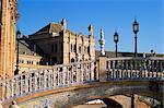 Pont de céramique, Palacio Espanol, Plaza de Espana, Parque de Maria Luisa, Séville, Andalousie (Andalousie), Espagne, Europe