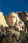 La tête géante du président Abraham Lincoln, Mémorial National du Mont Rushmore, Black Hills, Dakota du Sud, États-Unis d'Amérique, l'Amérique du Nord