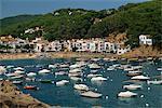 Découvre la baie village et plage, Tamariu, Costa Brava, Gérone, Catalogne, Espagne, Méditerranée, Europe