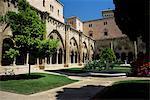 Cloître jardin, cathédrale de Tarragone, Tarragona, Catalogne, Espagne, Europe