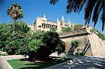View to Almudaina Palace, Palma, Majorca, Balearic Islands, Spain, Europe