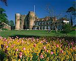 The Castle Gatehouse, adjoining Gothic mansion, Tonbridge, Kent, England, United Kingdom, Europe