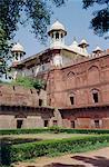 Moti Masjid (1646-53), Pearl mosquée construite par Shah Jehan (Jean) dans le Fort Rouge, Agra, Uttar Pradesh Inde