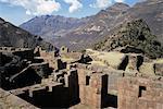 Hitching post of sun, Intihuatana, Inca site in the Urubamba Valley, Peru, South America