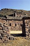 Seven Huts area, Qanchisaracay, Inca site in the Urubamba Valley, Peru, South America