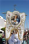 Procession de Pâques dimanche en fin de Semana Santa (Semaine Sainte), Ayamonte, Andalousie, Espagne, Europe