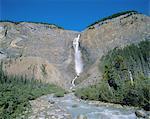 Takakkaw Falls, Parc National Yoho, patrimoine mondial de l'UNESCO, montagnes Rocheuses, (Colombie-Britannique), Canada, Amérique du Nord