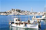 La ville d'Ibiza, Ibiza, Baléares Îles, Espagne, Méditerranée, Europe