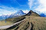 Eiger, Monch und Jungfrau, Berner Oberland, Schweizer Alpen, Schweiz, Europa