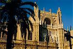 Le Porto Sud (portail) de la cathédrale (1402-1506), Séville (Sevilla), Andalousie (Andalousie), Espagne, Europe