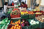 Rue du marché, Sanlucar de Barrameda, Andalousie, Espagne, Europe