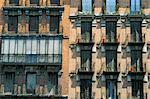 Balconies on houses, Igl S Isid, Madrid, Spain, Europe