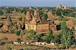 View north from Gayokpyemin Pagoda across Bagan (Pagan), Myanmar (Burma), Asia