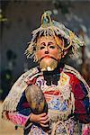 Chichicastenango, danse de l'Amérique centrale de Conquistadors, Guatemala,