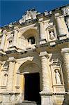 Façade de l'église de La Merced, Antigua, l'UNESCO World Heritage Site, Guatemala, Amérique centrale
