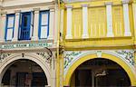 Boutique maisons dans Little India, Singapour, l'Asie du sud-est, Asie
