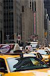 Cabines de taxi, Manhattan, New York City, New York, États-Unis d'Amérique, Amérique du Nord