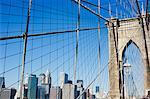 Brooklyn Bridge, New York City, New York, États-Unis d'Amérique, l'Amérique du Nord