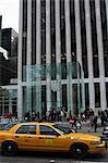 The Apple Store cube entrance, 5th Avenue, Manhattan, New York City, New York, United States of America, North America