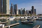 Yacht marina, Chicago, Illinois, États-Unis d'Amérique, l'Amérique du Nord