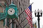 L'horloge de construction de terrain de Marshall, maintenant magasin Macy, Chicago, Illinois, États-Unis d'Amérique, l'Amérique du Nord