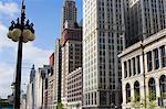 Bâtiments le long de North Michigan Avenue, Chicago, Illinois, États-Unis d'Amérique, l'Amérique du Nord