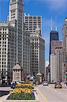 The Wrigley Building on North Michigan Avenue, Chicago, Illinois, United States of America, North America