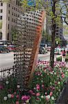 Kinetic sculpture on North Michigan Avenue, the Magnificent Mile, Chicago, Illinois, United States of America, North America