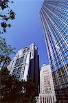 H.S.B.C. bâtiment sur la gauche, la Banque de Chine bâtisse au centre et le Cheung Kong Center à droite, Central, Hong Kong Island, Hong Kong, Chine, Asie