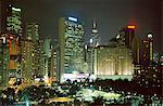 Causeway Bay à nuit, île de Hong Kong, Hong Kong, Chine, Asie