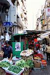 Légumes du marché, Mid-Levels, Hong Kong Island, Hong Kong, Chine, Asie