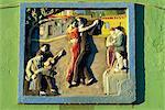 Peinture murale dans La Boca district d'où le tango, Buenos Aires, Argentine, Amérique du Sud