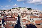 Ville et le château Saint-Georges, Lisbonne, Portugal, Europe