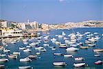 Baie de Saint-Paul, l'île de Malte, Méditerranée, Europe