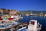Port, Molyvos, Lesbos, îles grecques, Grèce, Europe