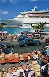 Cruise ship dockside, Nassau, Bahamas, West Indies, Central America
