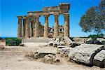 Ruins of Greek temple, Selinunte, Sicily, Italy, Europe