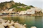 Town at the hillside, Marina Grande, Costiera Amalfitana, Amalfi, Salerno, Campania, Italy
