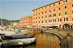 Bateaux au port, Calata Del Porto, Riviera italienne, Santa Margherita Ligure, Gênes, Ligurie, Italie